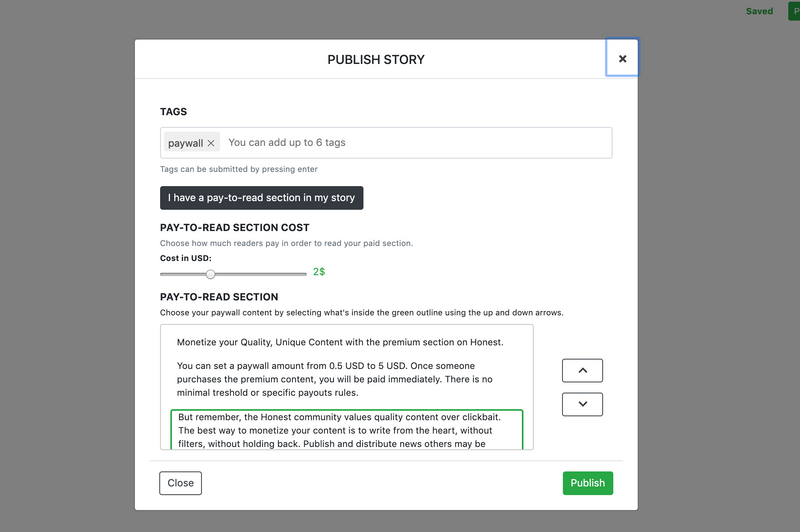 Do more on Honest with Paywalls by honest_cash | Honest