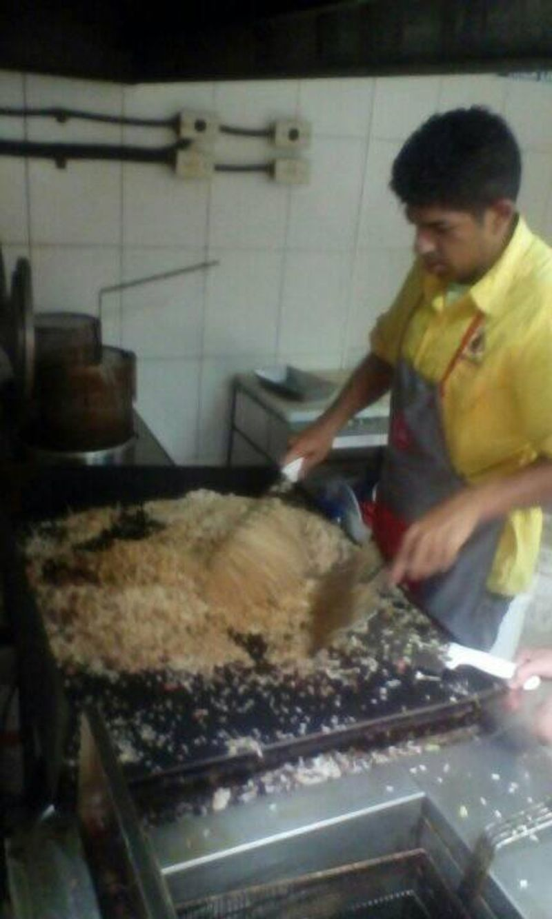 Cooking Chinese rice.