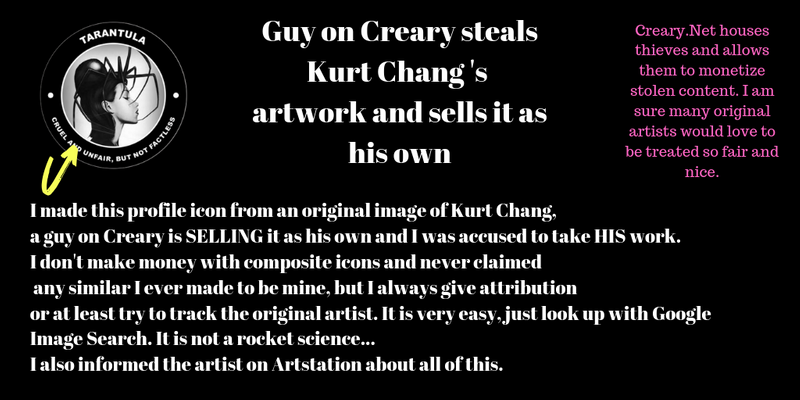 Guy on Creary steals Kurt Chang 's artwork and sells it as his own