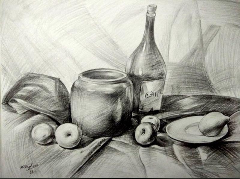 Still Life Pencil Sketch Artwork By At Raghao Honest Cash
